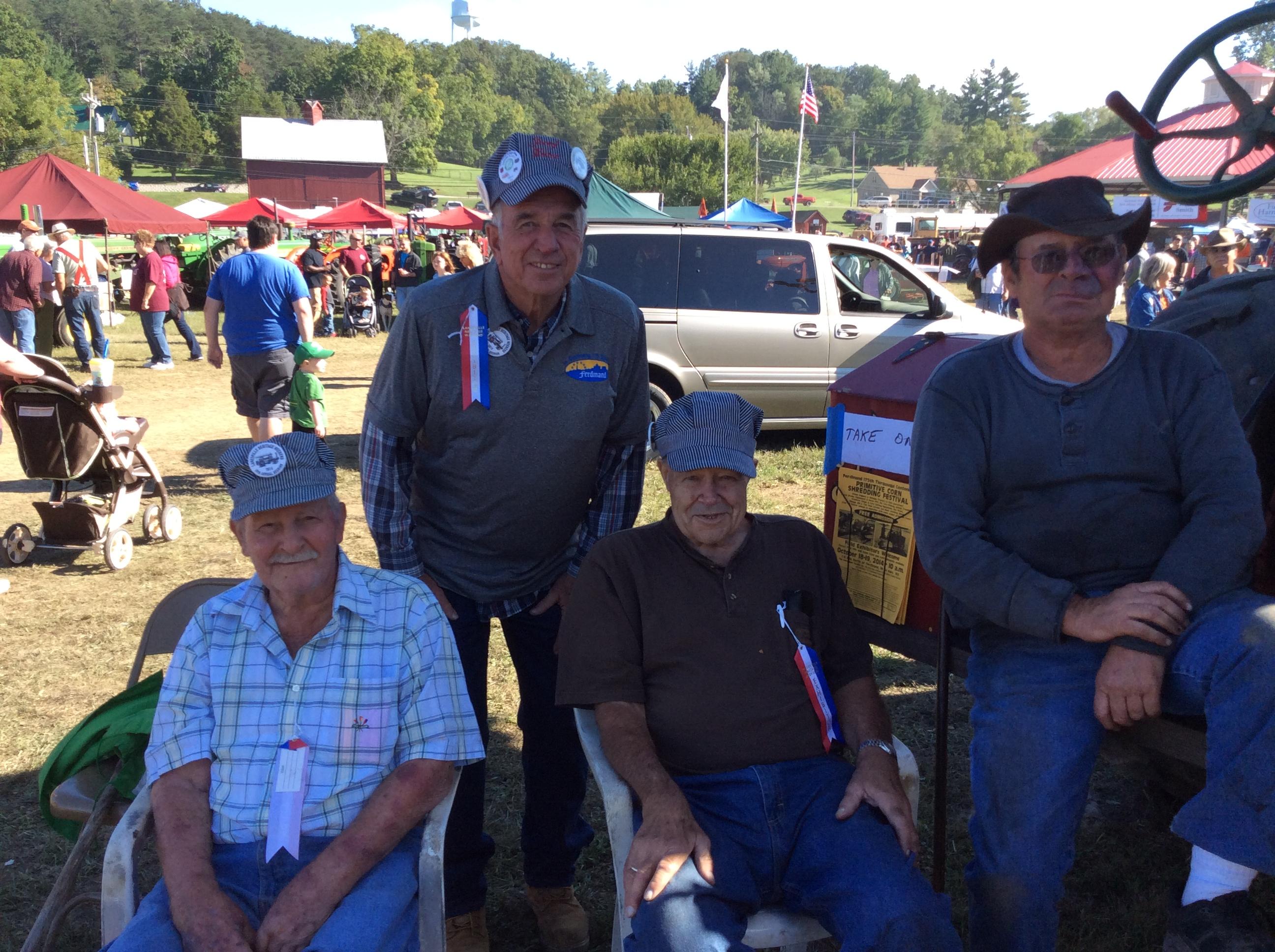 Francis Lindauer, Jerry Kitten, Bernie Pund, & Mike Lindauer @ Lanesville, In. 2014!