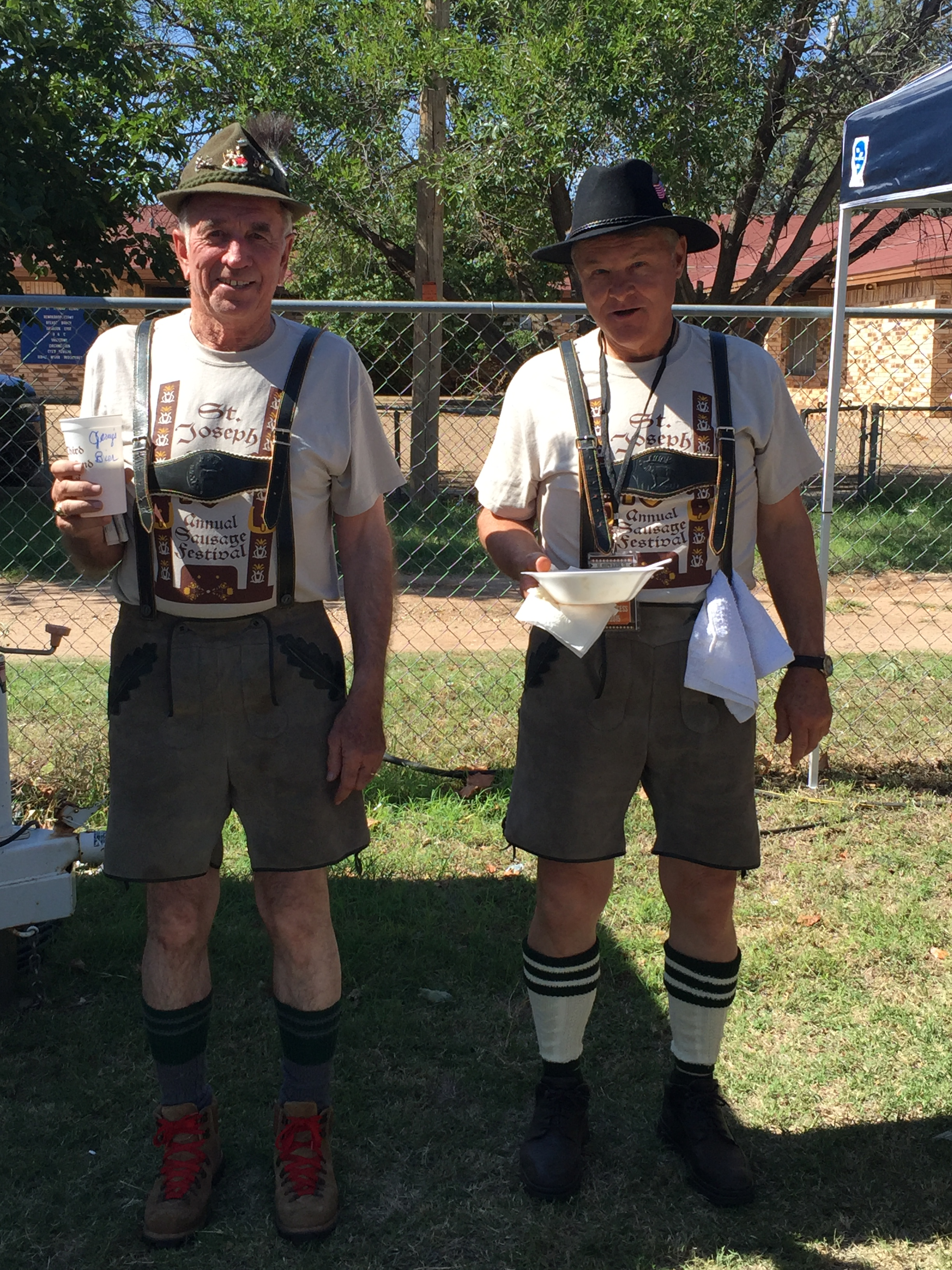 Jerry Kitten & Don Heinrich in Lederhosen